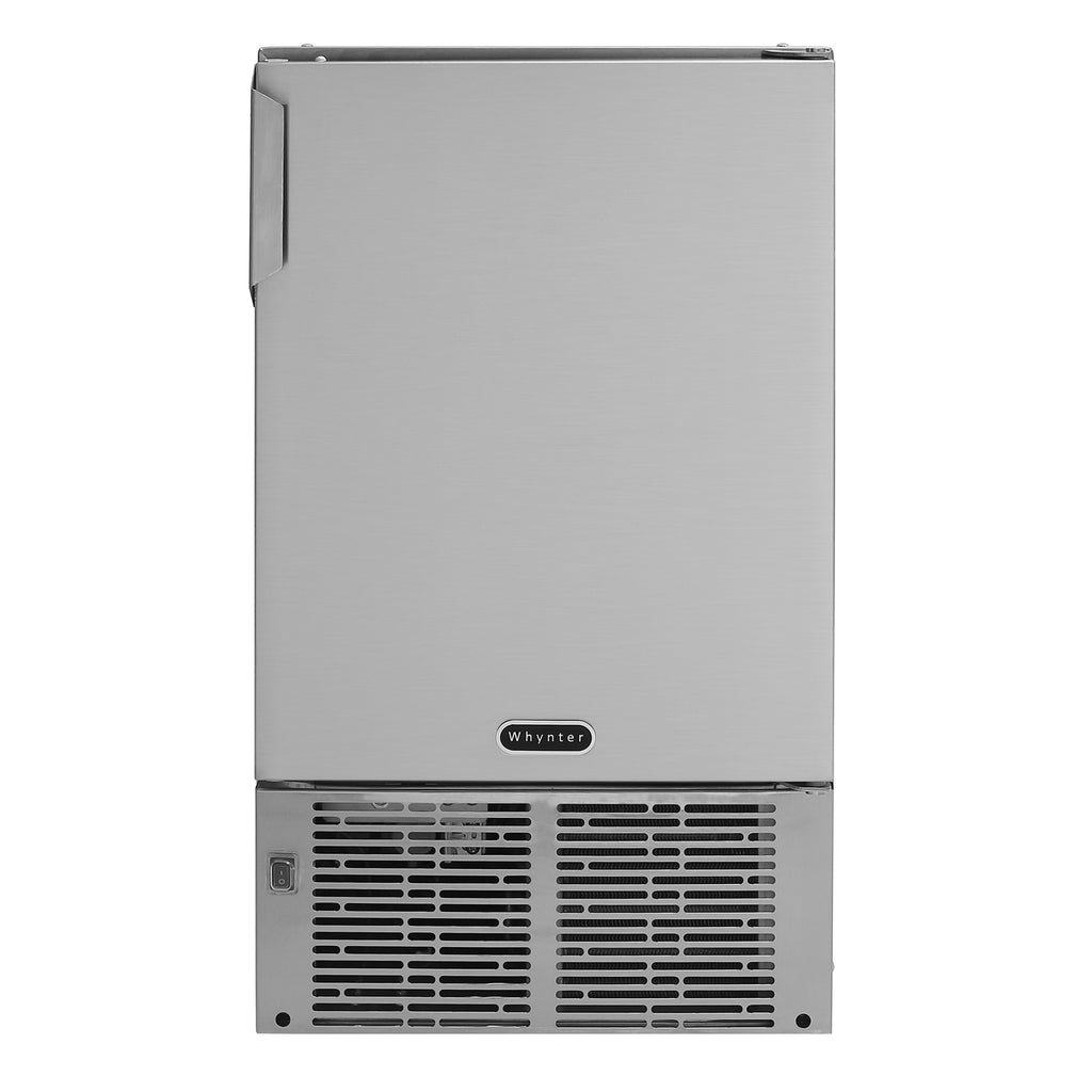 "Whynter 14"" Undercounter Automatic Stainless Steel Marine Ice Maker 23lb Daily Output MIM-14231SS"