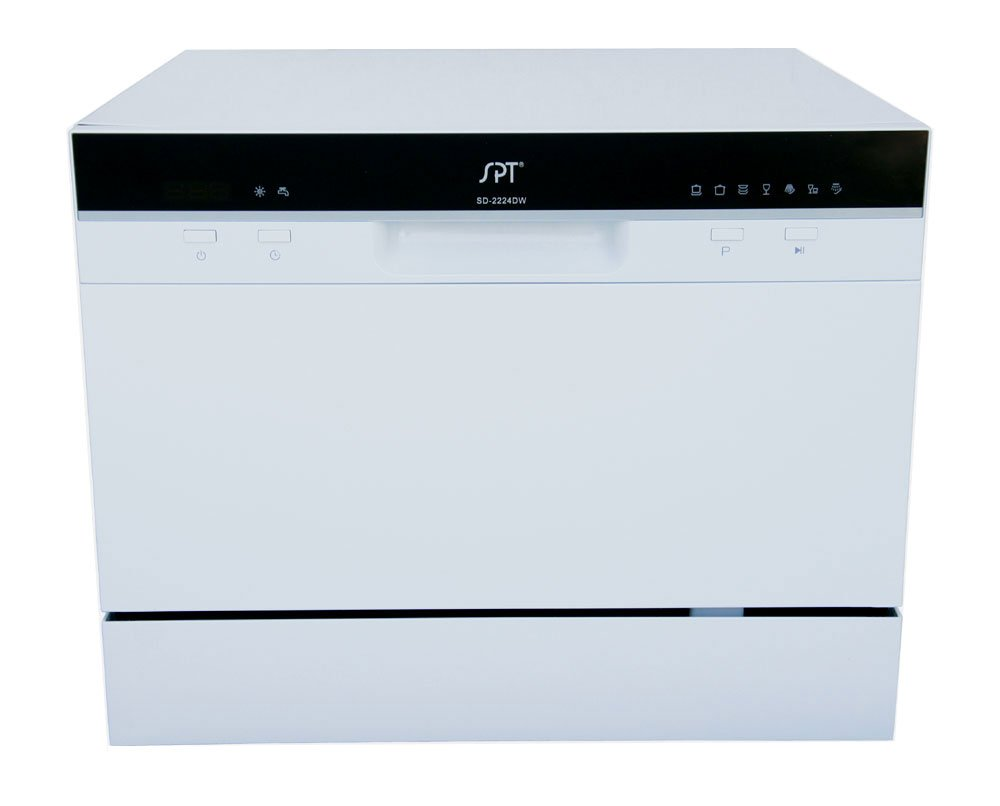 Sunpentown - SD-2224DW: Countertop Dishwasher with Delay Start & LED – White