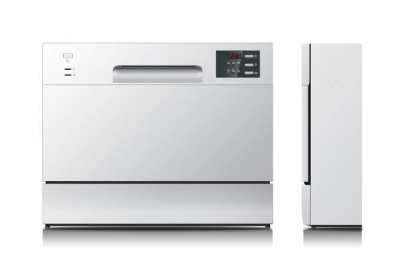 SPT - SD-2225DS: Energy Star Countertop Dishwasher with Delay Start & LED – Silver