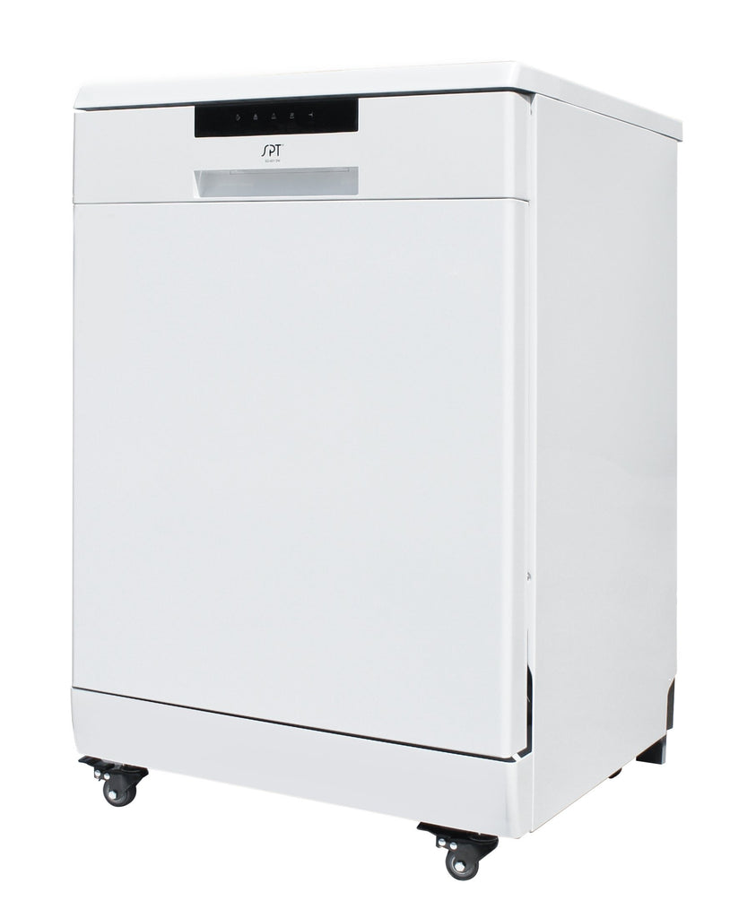 SPT - SD-6513W: Energy Star 24″ Portable Stainless Steel Dishwasher – White
