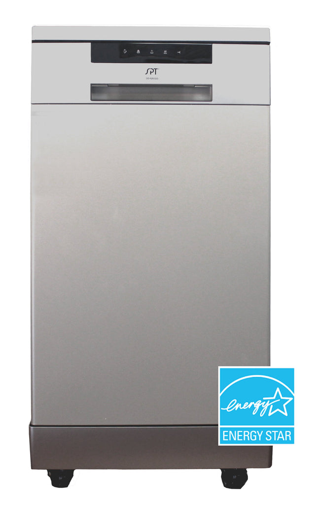 SPT - SD-9263SS: 18″ Energy Star Portable Dishwasher – Stainless Steel