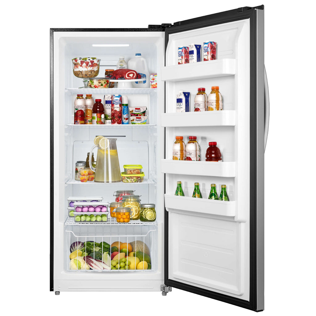 Whynter 13.8 cu.ft. Energy Star Digital Upright Convertible Deep Freezer / Refrigerator – Stainless Steel - UDF-139SS