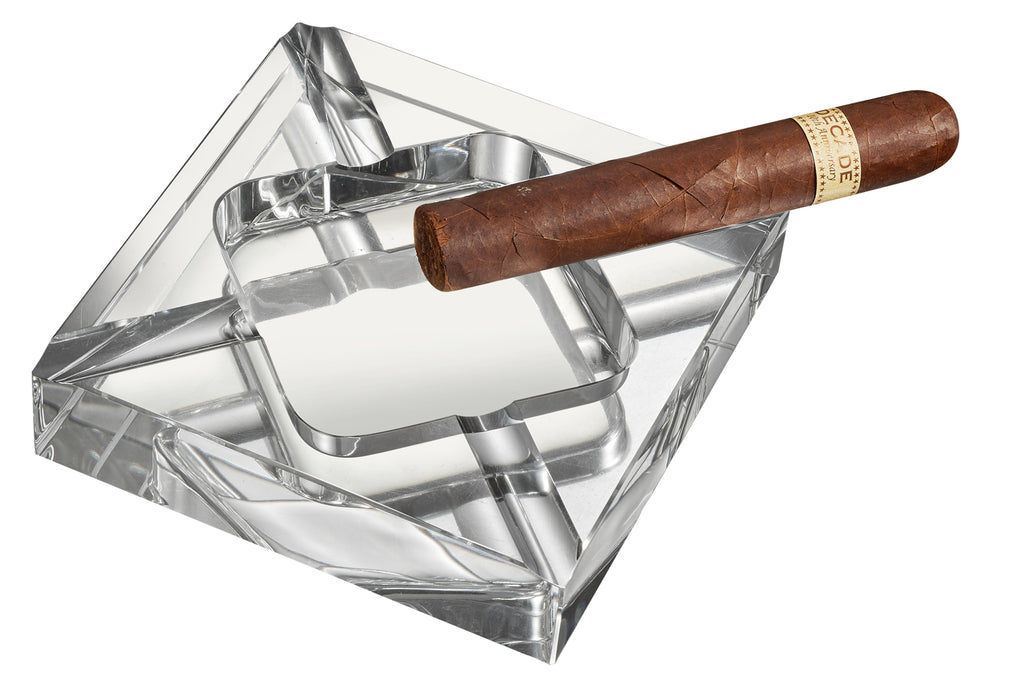 Visol Hyperion Square Crystal Cigar Ashtray - Wine Cooler City