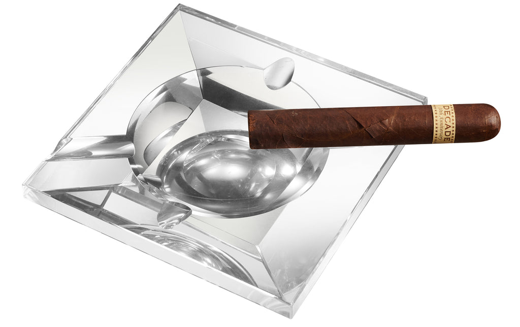 Visol Kratos Square Crystal Cigar Ashtray - Wine Cooler City