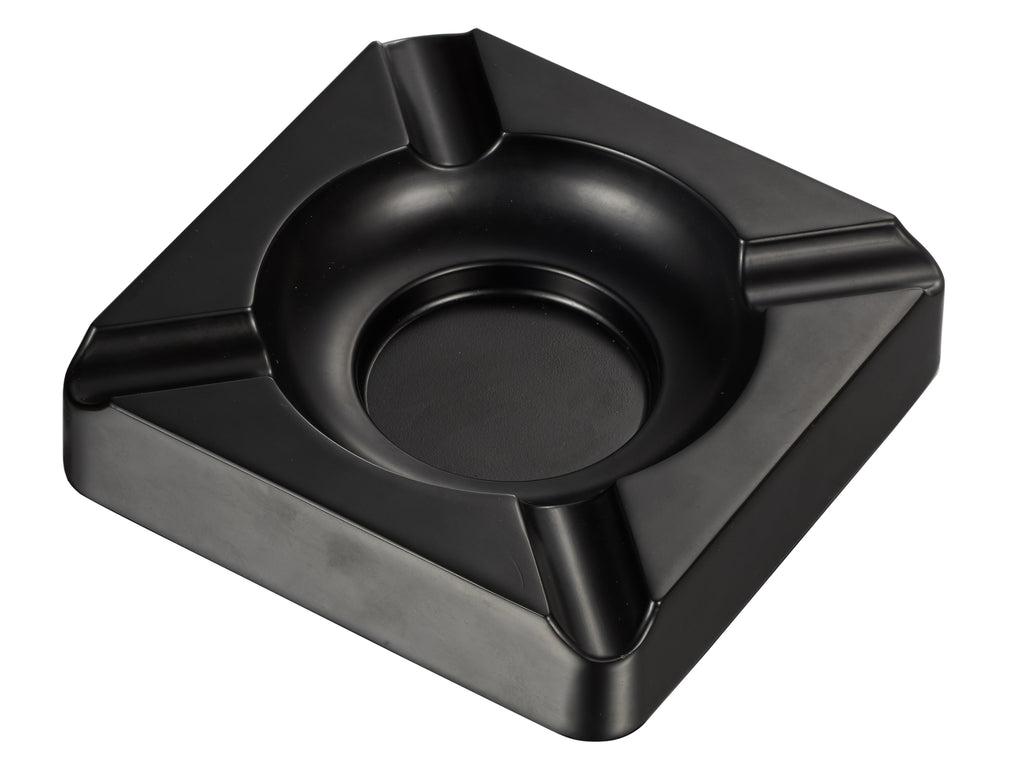 Visol Heavyweight Black Matte Metal Cigar Ashtray - Wine Cooler City