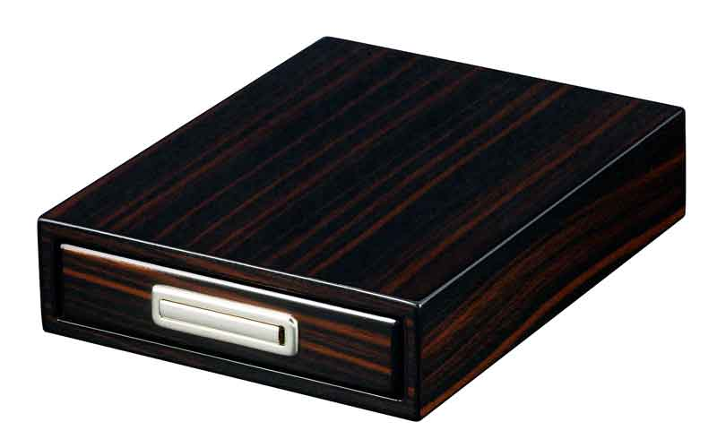 Visol Drawer Single Cigar Iron Wood Finish Ashtray - Wine Cooler City