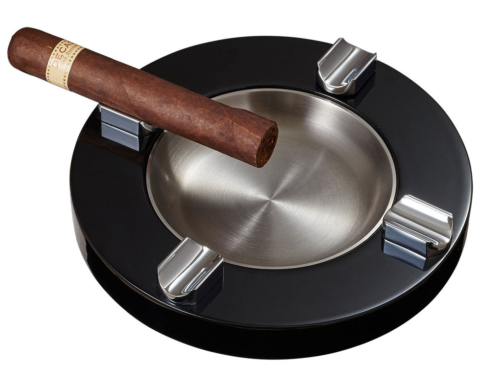 Visol Noche Lacquer Wooden Cigar Ashtray - Wine Cooler City