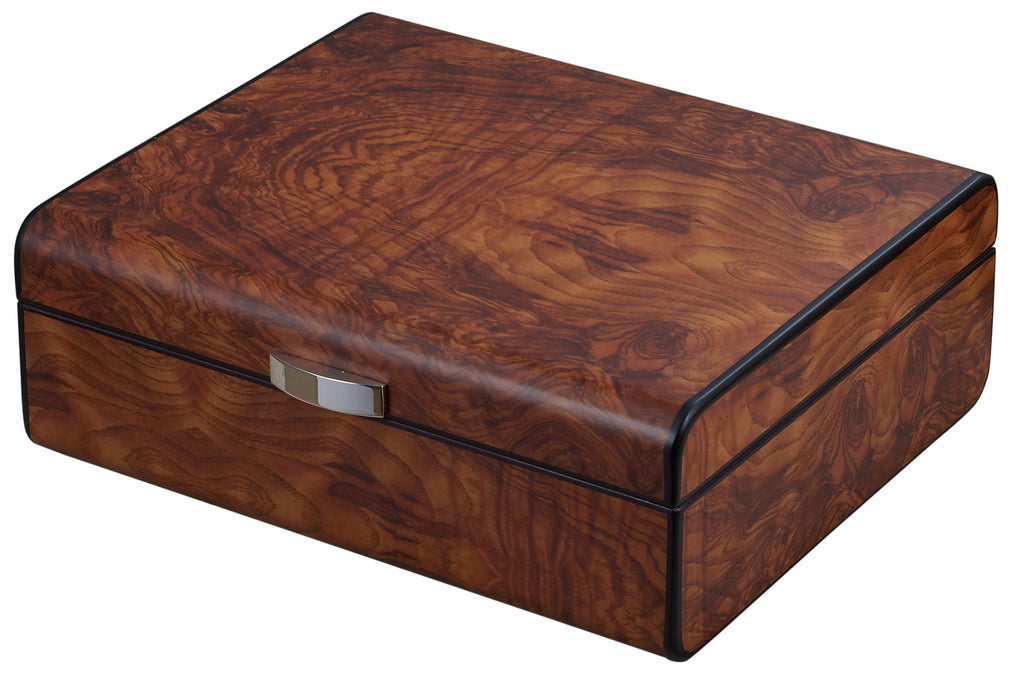 Visol Widar Burlwood Cigar Humidor - Wine Cooler City