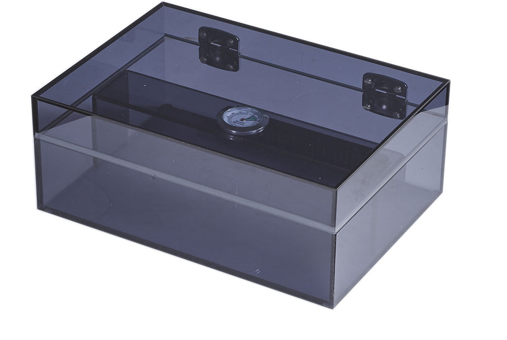 Visol Leo Transparent Navy Blue Humidor - Holds 50 Cigars