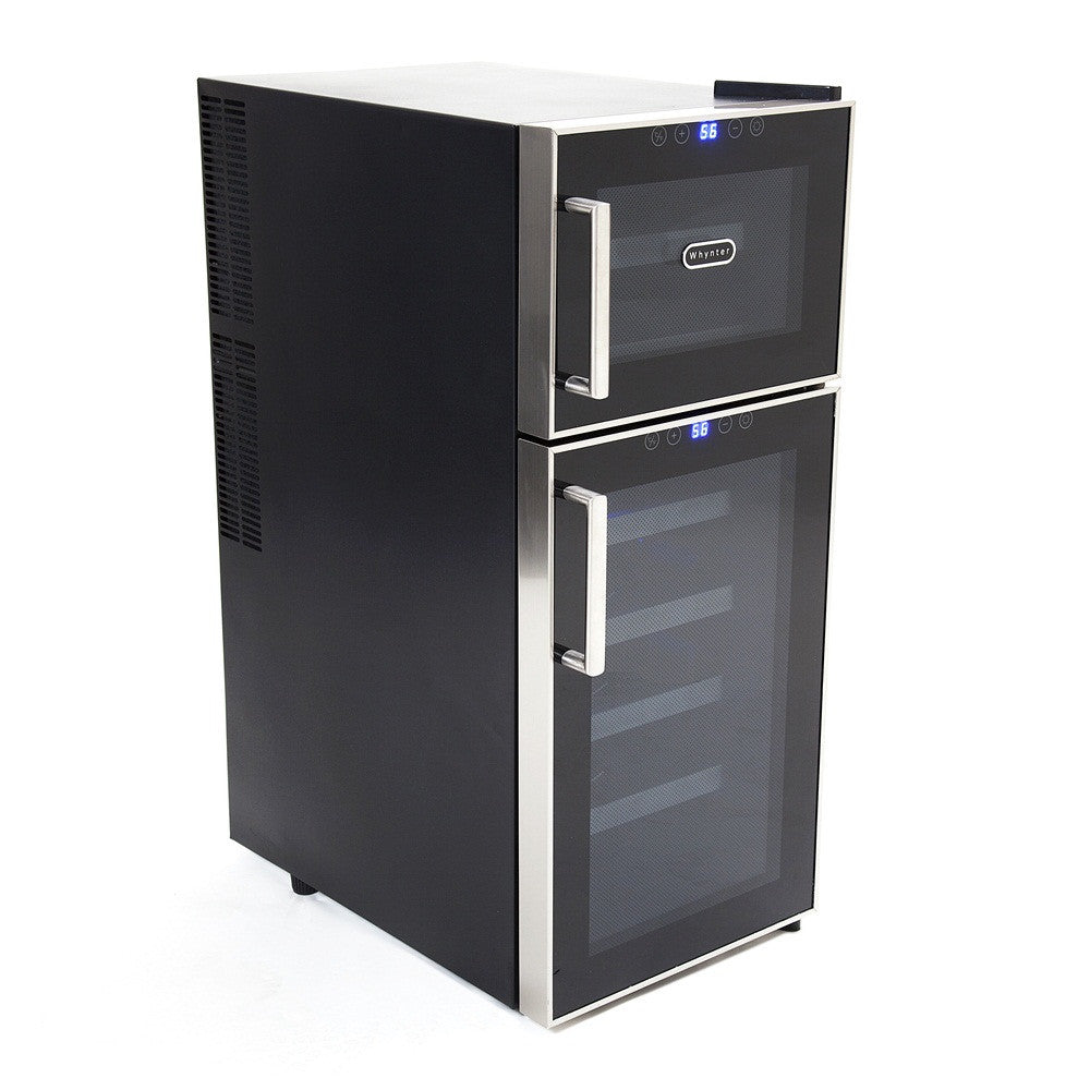 ... Whynter 21 Bottle Dual Temperature Zone Touch Control Freestanding Wine Cooler - Wine Cooler City ...  sc 1 st  Wine Cooler City & Whynter 21 Bottle Dual Temperature Zone Touch Control Freestanding ...