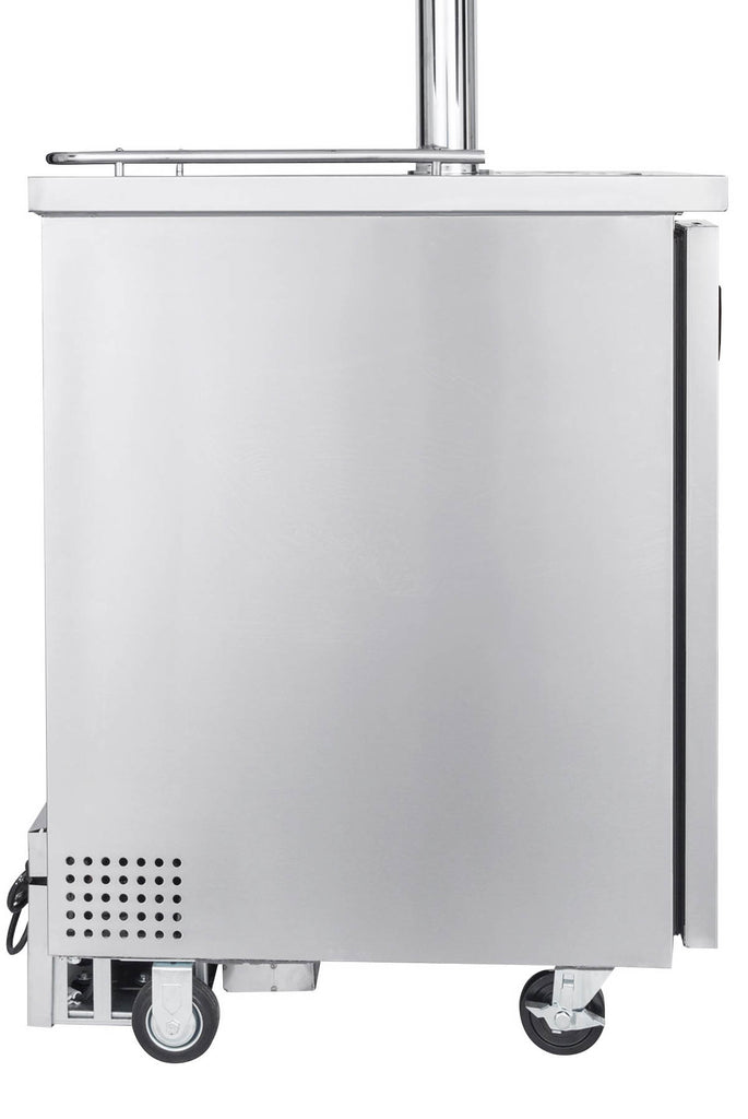 "Kegco 24"" Wide Cold Brew Coffee Dual Tap All Stainless Steel Commercial Kegerator - ICXCK-1S-2"