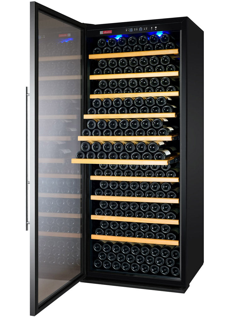 Allavino Vite Series 305 Bottle Single-Zone Wine Refrigerator - Stainless Steel Door with Left Hinge - YHWR305-1SLT - Wine Cooler City
