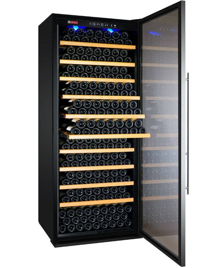 "Allavino 32"" Wide Vite II Tru-Vino 277 Bottle Single Zone Stainless Steel Right Hinge Wine Refrigerator - YHWR305-1SR20"