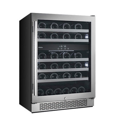 Avallon 46 Bottle Dual Zone Built-In Wine Cooler - AWC241DZRH - Wine Cooler City