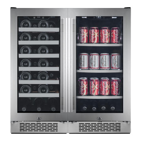 Avallon Built-In 30 Inch Wide 27 Bottle Capacity Wine Cooler with Door Locks and 2 Cooling Zones - AWBV2786 - Wine Cooler City