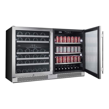 Avallon Built-In 48 Inch Wide 46 Bottle Capacity Wine Cooler with Door Locks and 3 Cooling Zones - AWBV46152 - Wine Cooler City