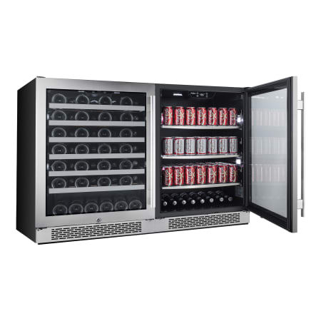 Avallon Built-In 48 Inch Wide 54 Bottle Capacity Wine Cooler with Door Locks and 2 Cooling Zones - AWBV54152 - Wine Cooler City