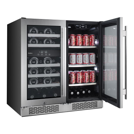 Avallon Built-In 30 Inch Wide 23 Bottle Capacity Wine Cooler with Door Locks and 3 Cooling Zones - AWBV8623 - Wine Cooler City