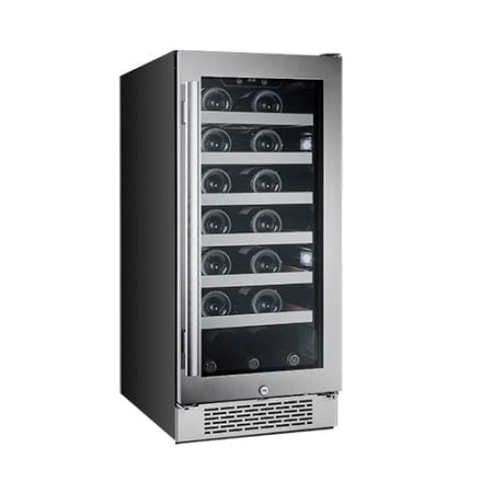 "Avallon 27 Bottle 15"" Built-In Single Zone Wine Cooler - AWC151SZRH - Wine Cooler City"