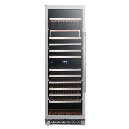 Avallon 24 Inch Wide 141 Bottle Capacity Built-In or Free Standing Dual Zone Wine Cooler with Interior Lighting - AWC242TDZLH - Wine Cooler City