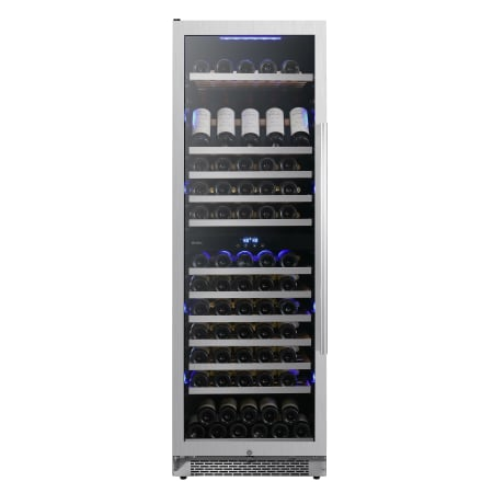 Avallon 24 Inch Wide 141 Bottle Capacity Built-In or Free Standing Dual Zone Wine Cooler with Interior Lighting - AWC242TDZLH