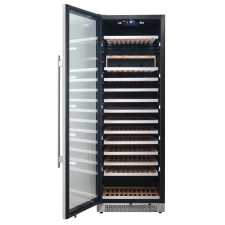 Avallon 24 Inch Wide 151 Bottle Capacity Built-In or Free Standing Single Zone Wine Cooler with Interior Lighting - AWC242TSZLH