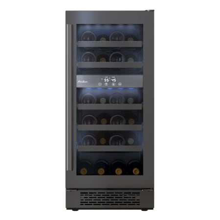 Avallon 15 Inch Wide 23 Bottle Capacity Dual Zone Wine Cooler with Left Swing Door - AWC151DBLSS