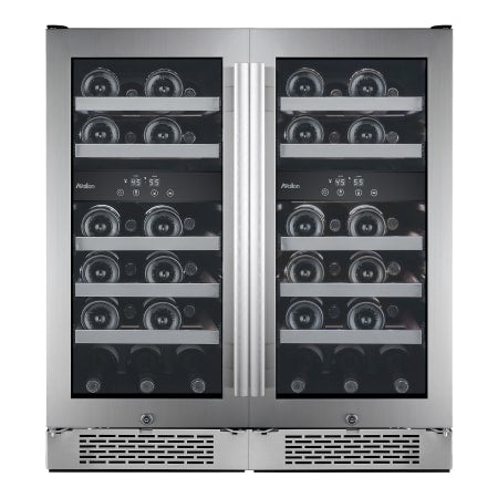 Avallon Built-In 30 Inch Wide 46 Bottle Capacity Wine Cooler with Door Locks and 4 Cooling Zones - AWC151DZDUAL - Wine Cooler City