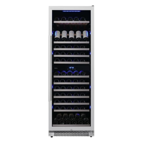 Avallon 24 Inch Wide 141 Bottle Capacity Built-In or Free Standing Dual Zone Wine Cooler with Interior Lighting - AWC242TDZRH