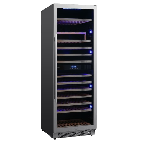 Avallon 24 Inch Wide 141 Bottle Capacity Built-In or Free Standing Dual Zone Wine Cooler with Interior Lighting - AWC242TDZRH - Wine Cooler City