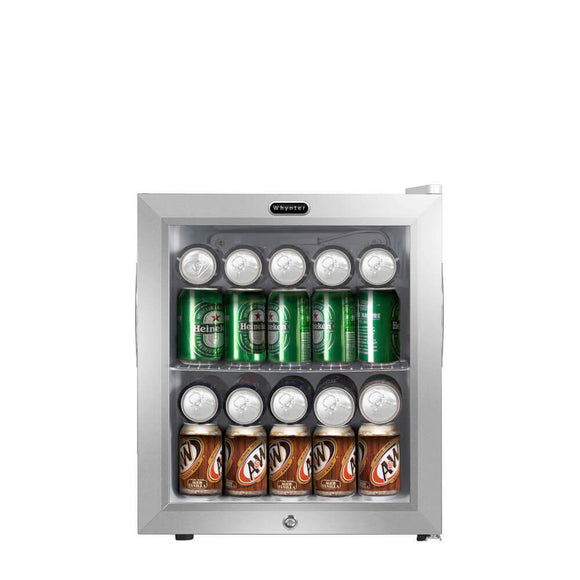 Whynter Beverage Refrigerator With Lock – Stainless Steel 62 Can Capacity - BR-062WS - Wine Cooler City
