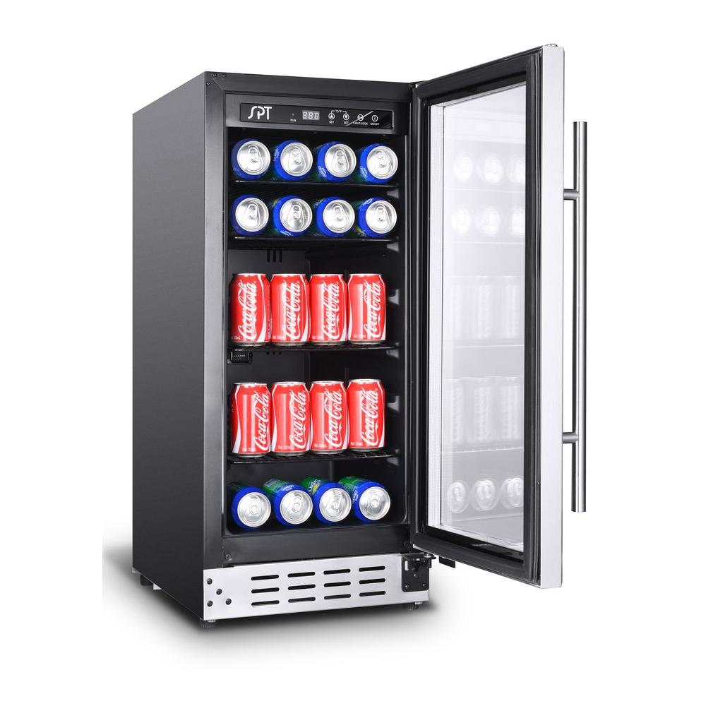 SPT 92-can Under-Counter Beverage Cooler (Commercial Grade) - BC-92US - Wine Cooler City