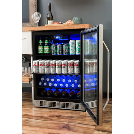 EdgeStar 24 Inch Wide 142 Can Built-In Beverage Cooler with Tinted Door and LED Lighting - CBR1502SG - Wine Cooler City