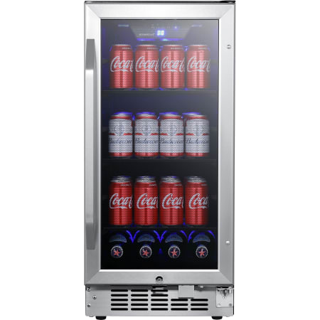 Edgestar 15 Inch Wide 80 Can Built In Beverage Cooler With