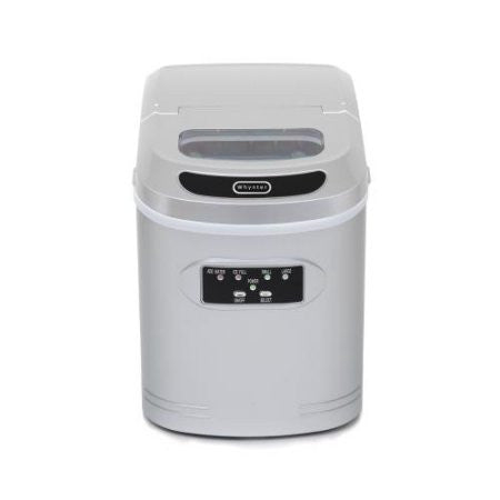 Whynter Compact Portable Ice Maker 27 lb capacity – Metallic Silver IMC-270MS