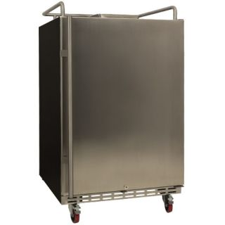 EdgeStar 24 Inch Wide Kegerator Conversion Refrigerator for Full Size Kegs - Stainless Steel - BR7001SS - Wine Cooler City