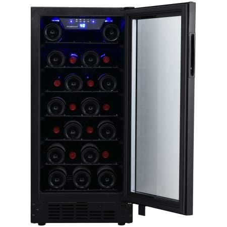EdgeStar15 Inch Wide 30 Bottle Built-In Single Zone Wine Cooler with Reversible Door and LED Lighting - BWR301BL - Wine Cooler City