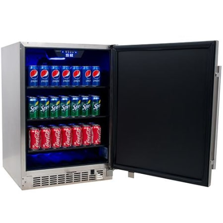 EdgeStar 142 Can Stainless Steel Outdoor Beverage Cooler - CBR1501SSOD - Wine Cooler City