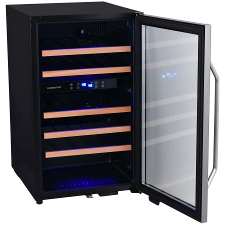 EdgeStar 19 Inch Wide 38 Bottle Capacity Free Standing Wine Cooler with Dual Zones, LED Lighting and Reversible Door - CWF380DZ - Wine Cooler City