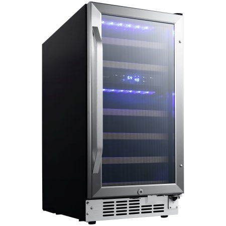 EdgeStar 15 Inch Wide 26 Bottle Built-In Dual Zone Wine Cooler with Reversible Door and LED Lighting - CWR263DZ - Wine Cooler City