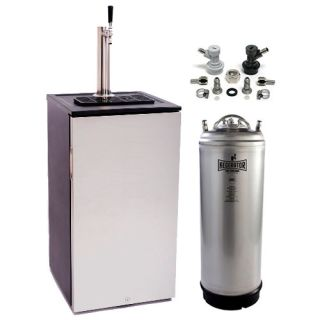 EdgeStar Craft Brew Kegerator - Stainless Steel - KC1000SSHBKG - Wine Cooler City