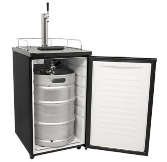 EdgeStar 20 Inch Wide Single Tap Kombucha Dispenser - Black Stainless Steel - KC2000KOM - Wine Cooler City