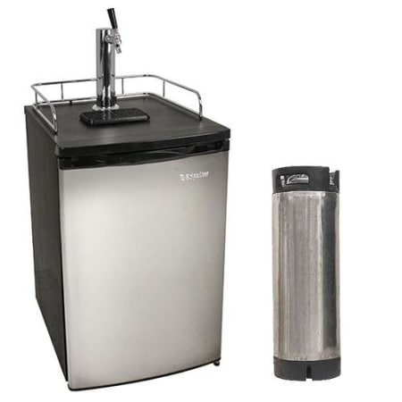 EdgeStar 20 Inch Wide Kegerator with Home Brew Tap and Ultra Low Temp - KC2000SSHBKG