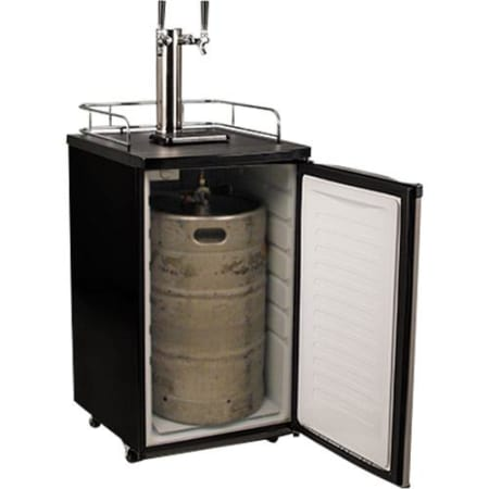 EdgeStar 20 Inch Wide Dual Tap Kegerator with Kegs with Home Brew Taps and Ultra Low Temp - KC2000SSTWINHBKG
