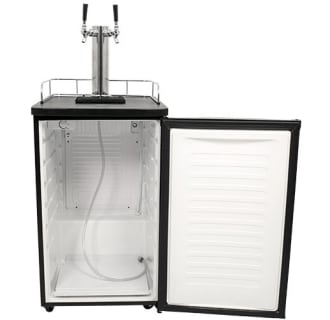 EdgeStar Twin Faucet Kombucha Dispenser - Stainless Steel - KC2000SSTWINKOM - Wine Cooler City