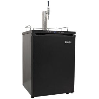 EdgeStar 24 Inch Wide Cold Brew Coffee Dispenser with Digital Display - Black - KC3000CAFE - Wine Cooler City