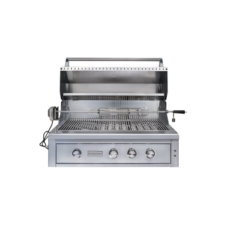 EdgeStar 89000 BTU 42 Inch Wide Liquid Propane Built-In Grill with Rotisserie and LED Lighting - GRL420IBBLP - Wine Cooler City