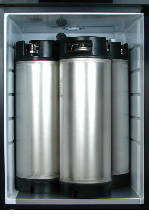 "Kegco 24"" Wide Homebrew Triple Tap Stainless Steel Kegerator - HBK209S-3NK - Wine Cooler City"