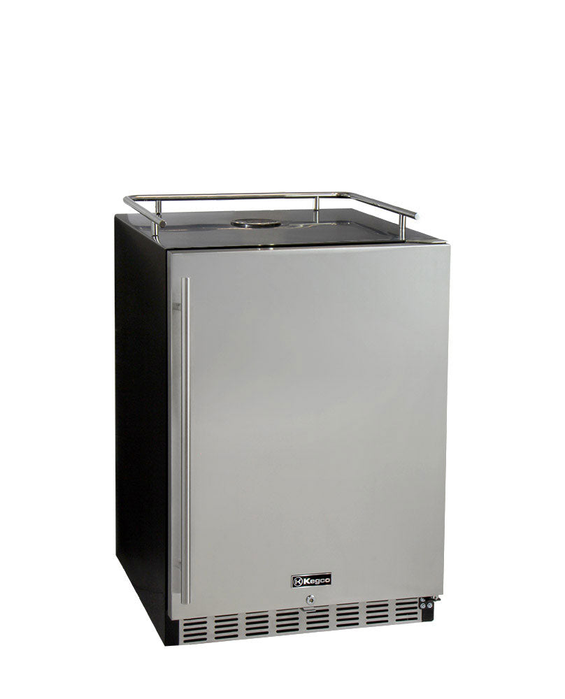 "Kegco 24"" Wide Stainless Steel Built-In Kegerator - Cabinet Only - HK-38-BS"