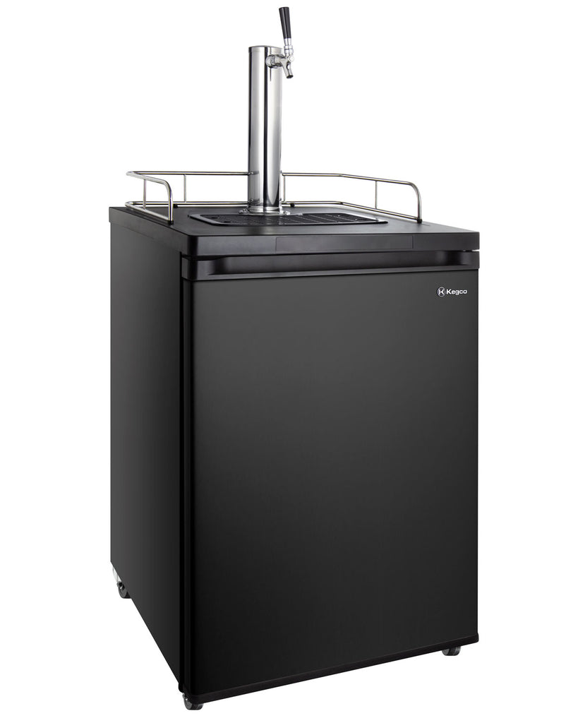 "Kegco 24"" Wide Cold Brew Coffee Single Tap Black Kegerator - ICK30B-1NK - Wine Cooler City"